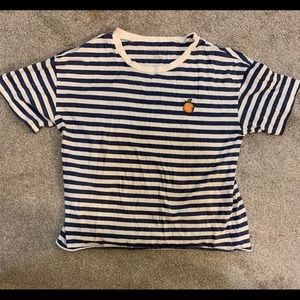American Eagle striped t shirt with peach🍑 Size M